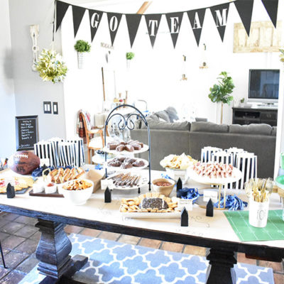 Elegant and Fun Game Day Celebration